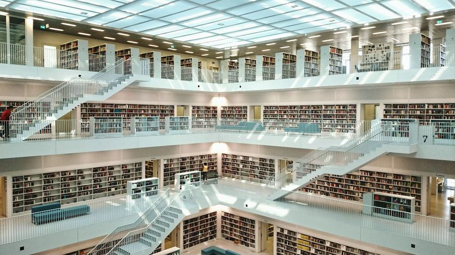 Stuttgart Architecture Architectural Feature Library Book Design Pure Beauty Relax Knowledge Large Group Of Objects