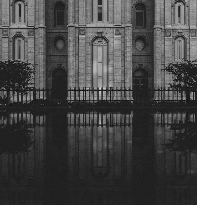 Architecture Church Church Of Jesus Christ Of Latter Day Saints Mormon Reflection Stone Temple Temple Square Water