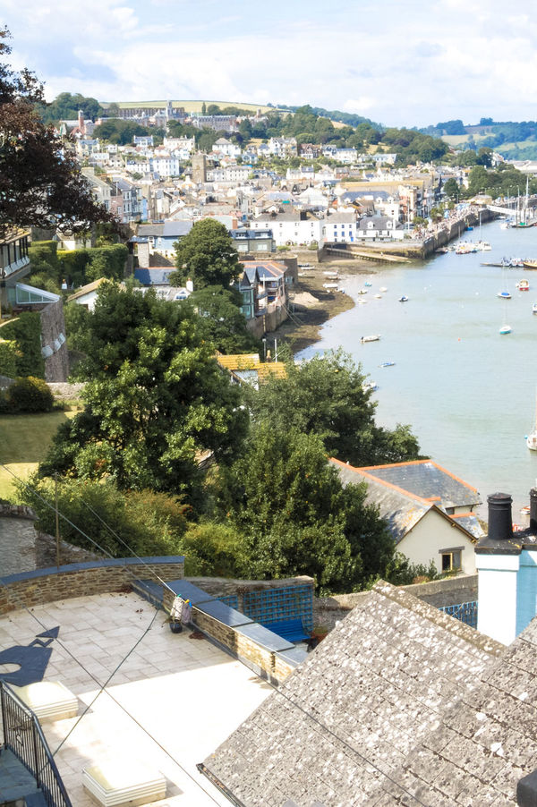 Looking across rooftops at towards Dartmouth College. Architecture Darmouth Trip Dartmouth College Devon Estuary Holiday Holidays River River Dart Roof Rooftops Town TOWNSCAPE Travel Water
