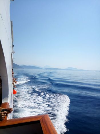 Sea Water Horizon Over Water Nautical Vessel Outdoors Sky Blue Nature Clear Sky Wave Beauty In Nature Day Been There. Ionian Sea Ionianislands
