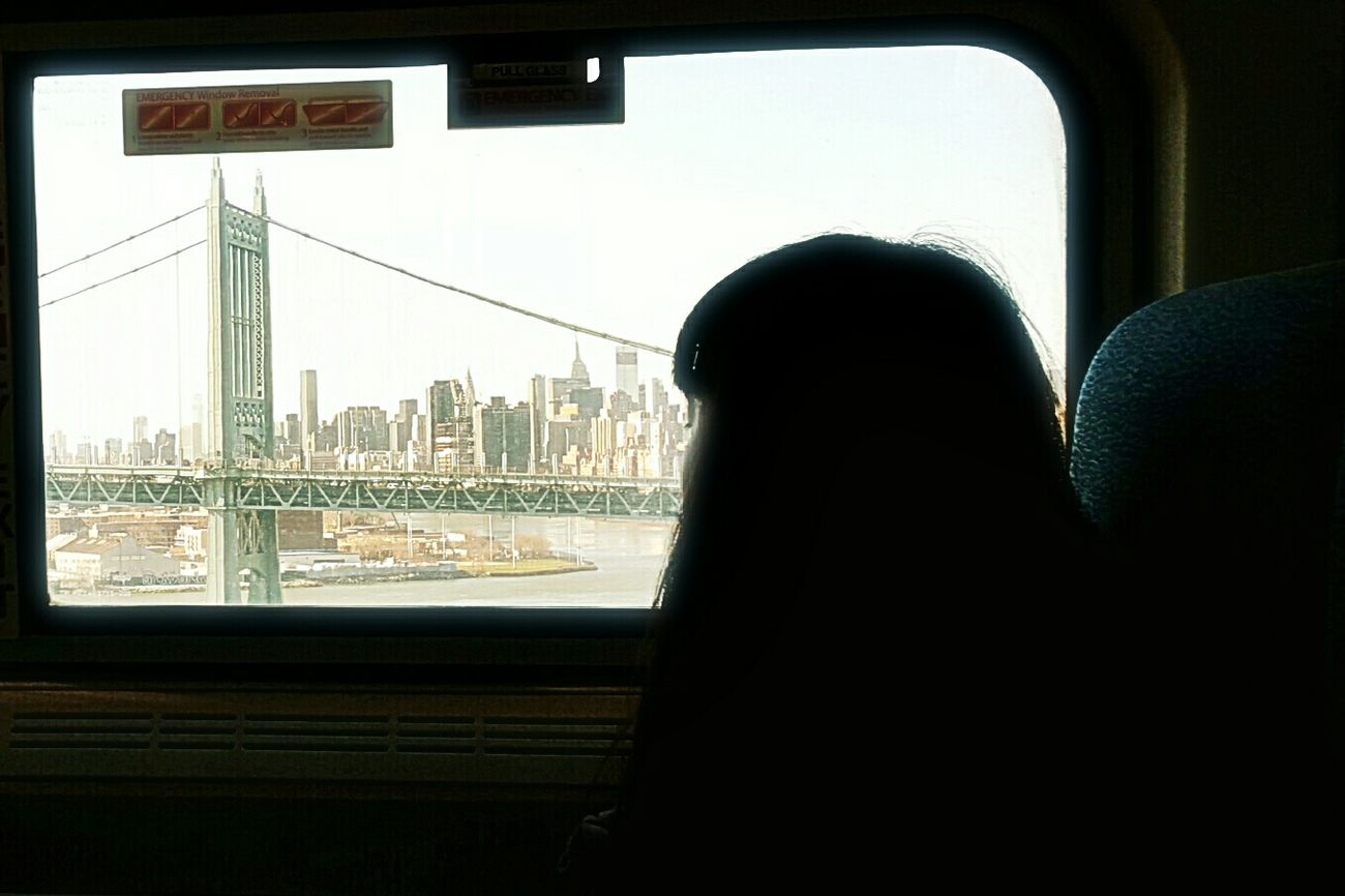 Until next time... Window Transportation Day On The Train Silhouette Rear View One Person Indoors  Train Woman City View  Profile Sky Brıdge EyeEm Best Shots