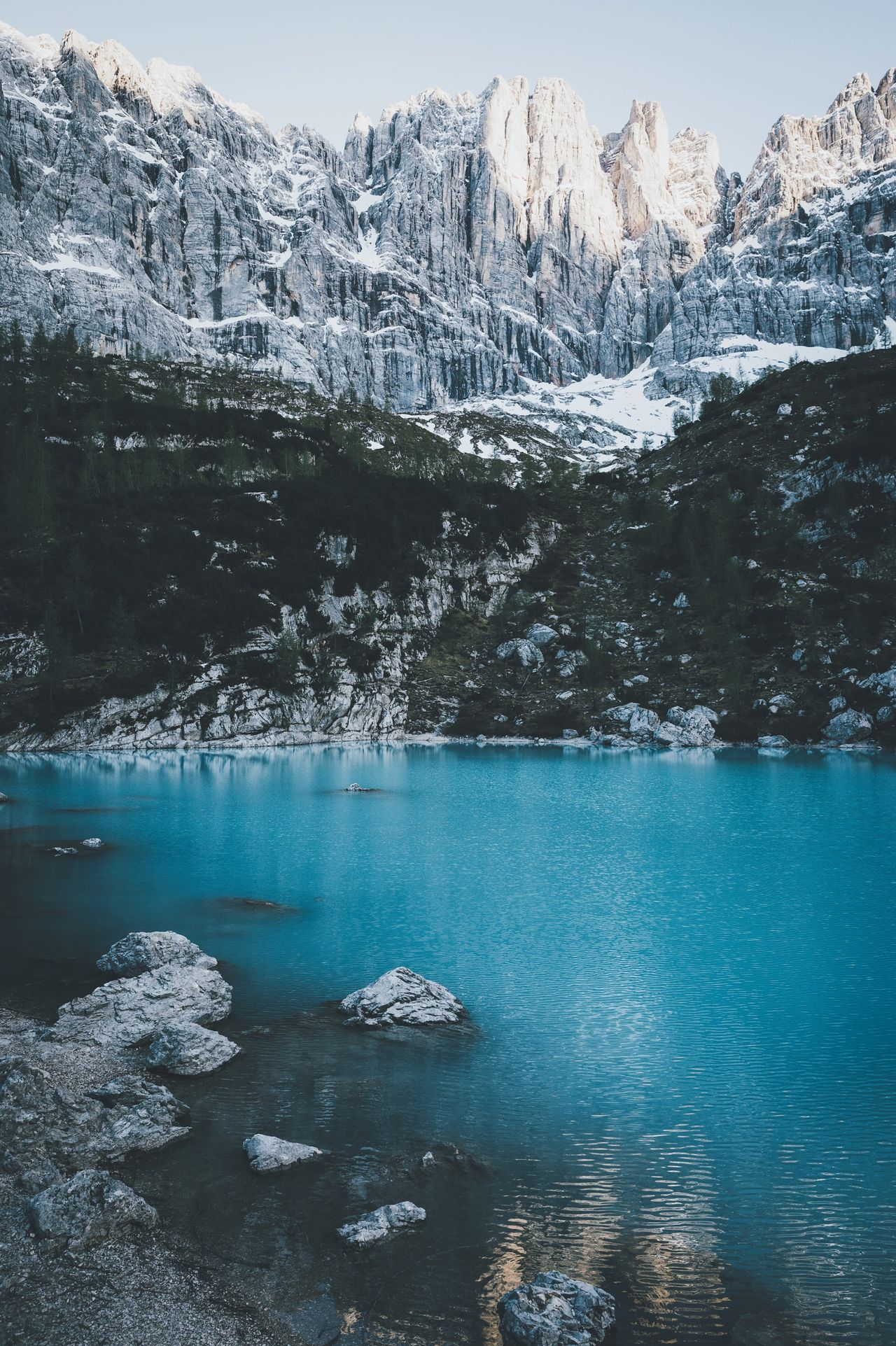 Blue diamond. Mountain Scenics Snow Beauty In Nature Nature Cold Temperature Lake Tranquility Tranquil Scene Winter Ice Water Outdoors Mountain Range Landscape Frozen No People Idyllic Day Snowcapped Mountain Italy