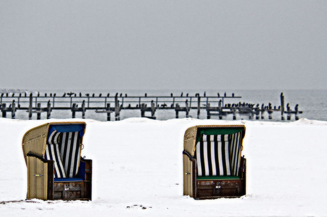 Baltic Sea Beach Beach Chair Beach Chairs Beach Chilling Chilling Cold Lübeck Travemünde Weather Winter