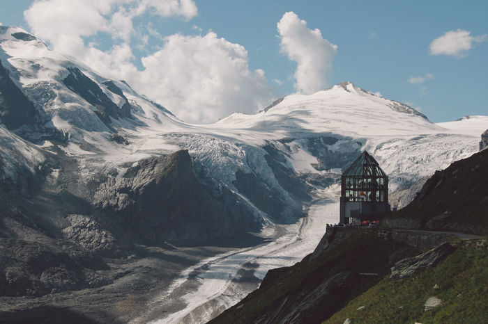 Architecture Built Structure Covering Glacier Global Warming Grossglockner Grossglockner, Austria Grossglockner-hochalpenstrasse Grossglocknerstraße Grossglockner Landscape Melting Mountain Mountain Range Pasterze Scenics Season  Sky Snow Snowcapped Mountain Tranquil Scene The Great Outdoors - 2016 EyeEm Awards The Great Outdoors With Adobe Ice Age Been There. Lost In The Landscape Shades Of Winter