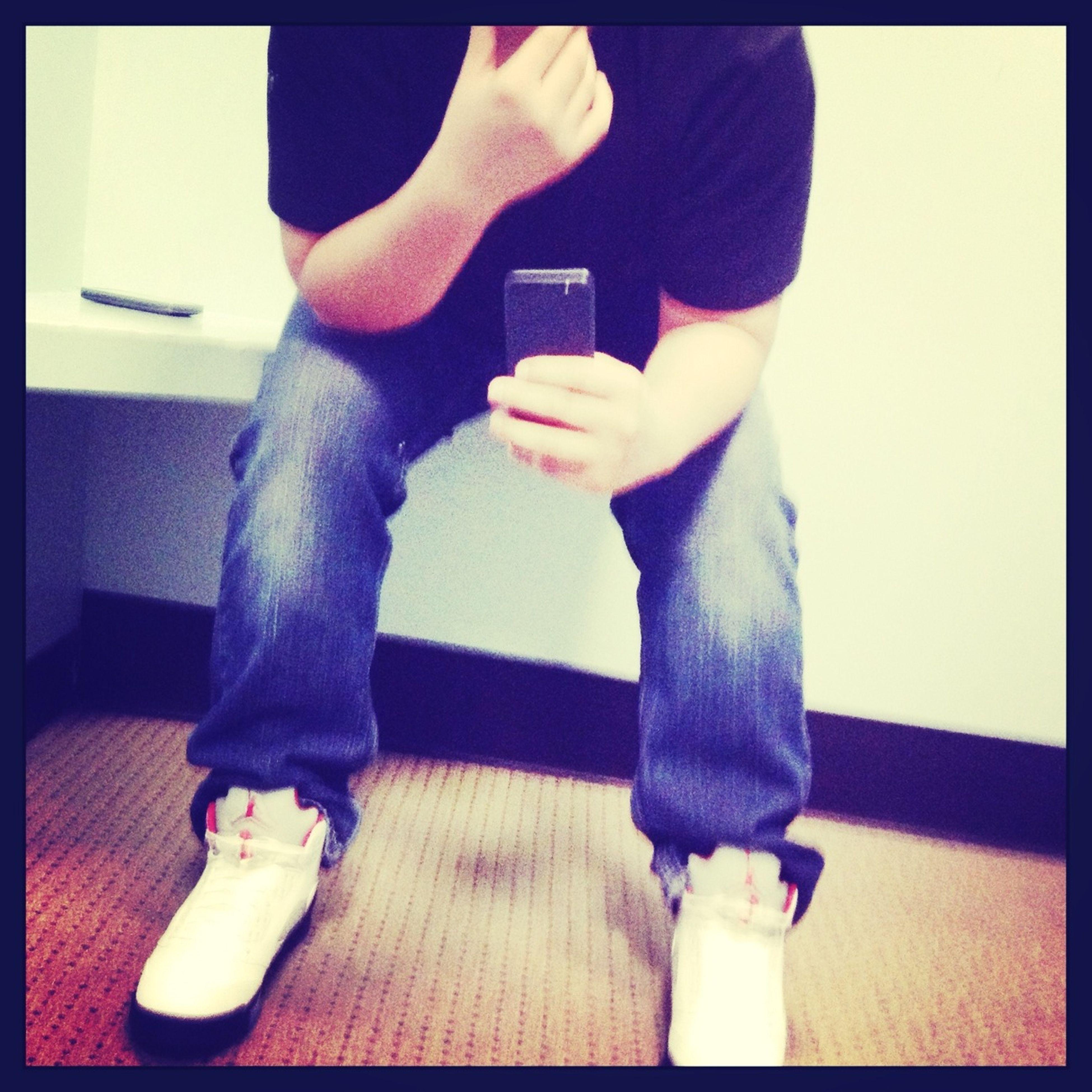 Rocking My Jordans 5's