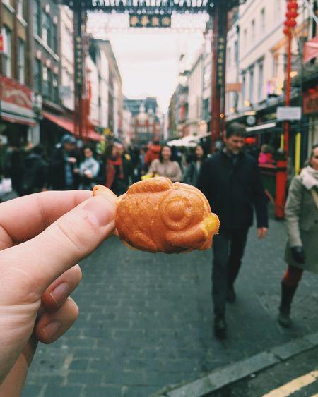 Taiyaki in Chinatown Chinatown Chinatown London TAIYAKI Streetfood Japanese  Japanese Culture First Eyeem Photo
