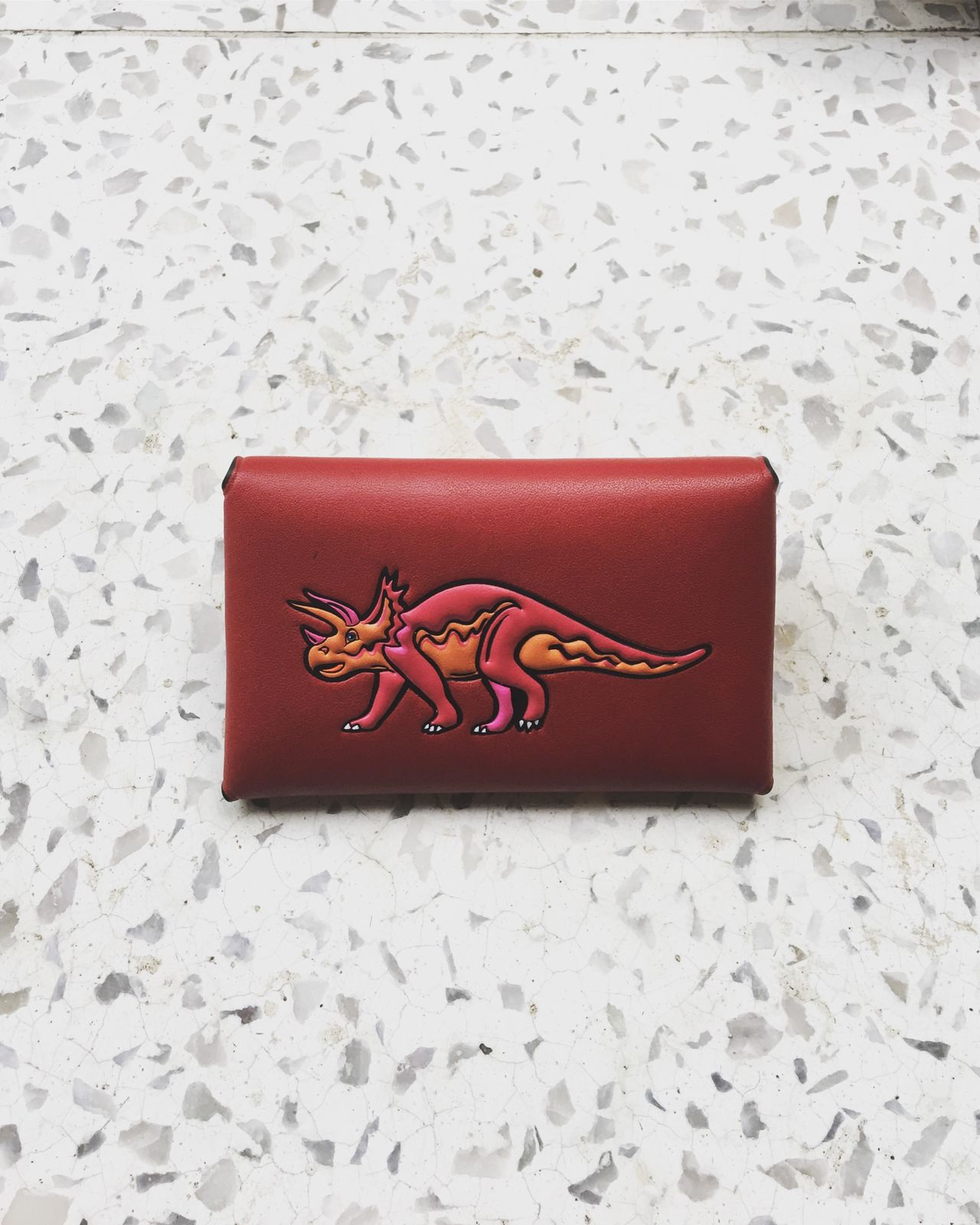 Wallet Dinasour Coach Bag Designer  Brand Still Life No People Indoors  Table Paper Red Close-up Day Visual Feast Summer Views