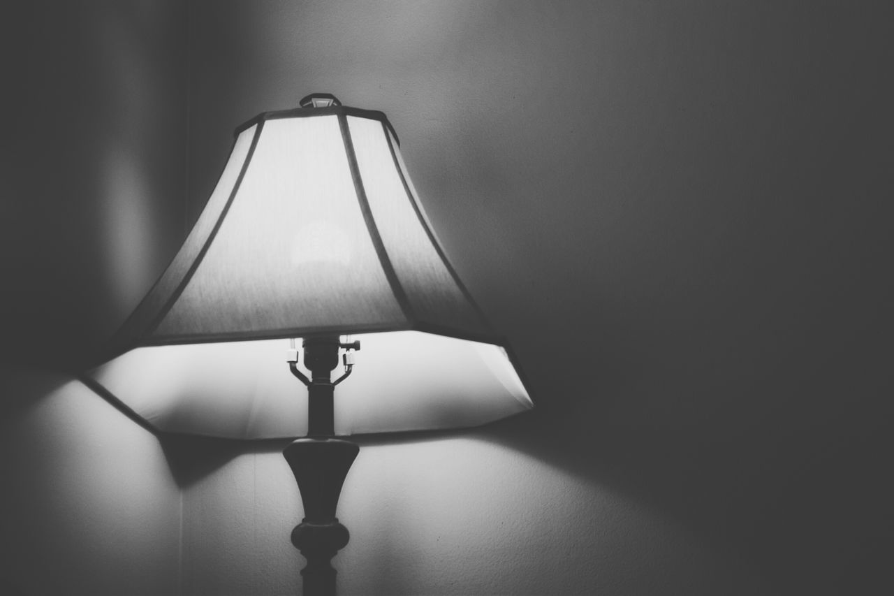 Cast A Shadow Alone Shadow Shadows & Lights Bright Lamp Corner Lamp Shade