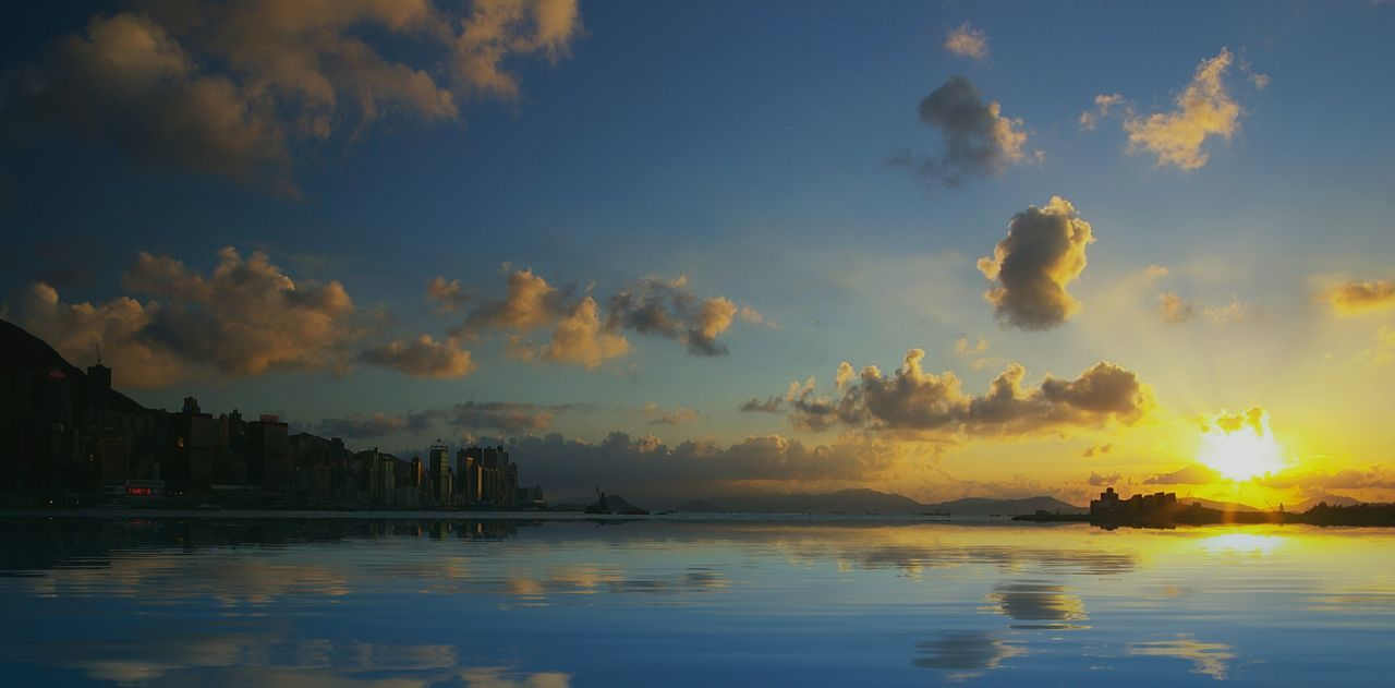 Sky City The Magic Mission Color Palette Water Reflections Beauty In Nature Sunset Ocean Coastline Landscape Landscapes Cityscapes Reflection Hk Discovery Channel Discoverhongkong