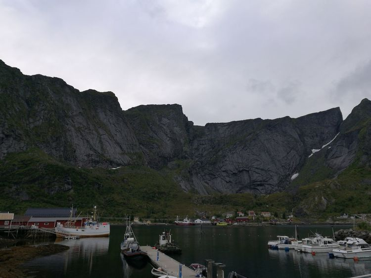 Reflection Water Landscape Beauty In Nature Scenics No People Reflection Lake Idyllic Clouds And Sky Power The Lofoten Islands Fishing Village Harbor Springs Harbor Harbor Town Mountain Mountain Peak Cloud - Sky Peaks Rough Texture Rough Norway Outdoors Nature Town
