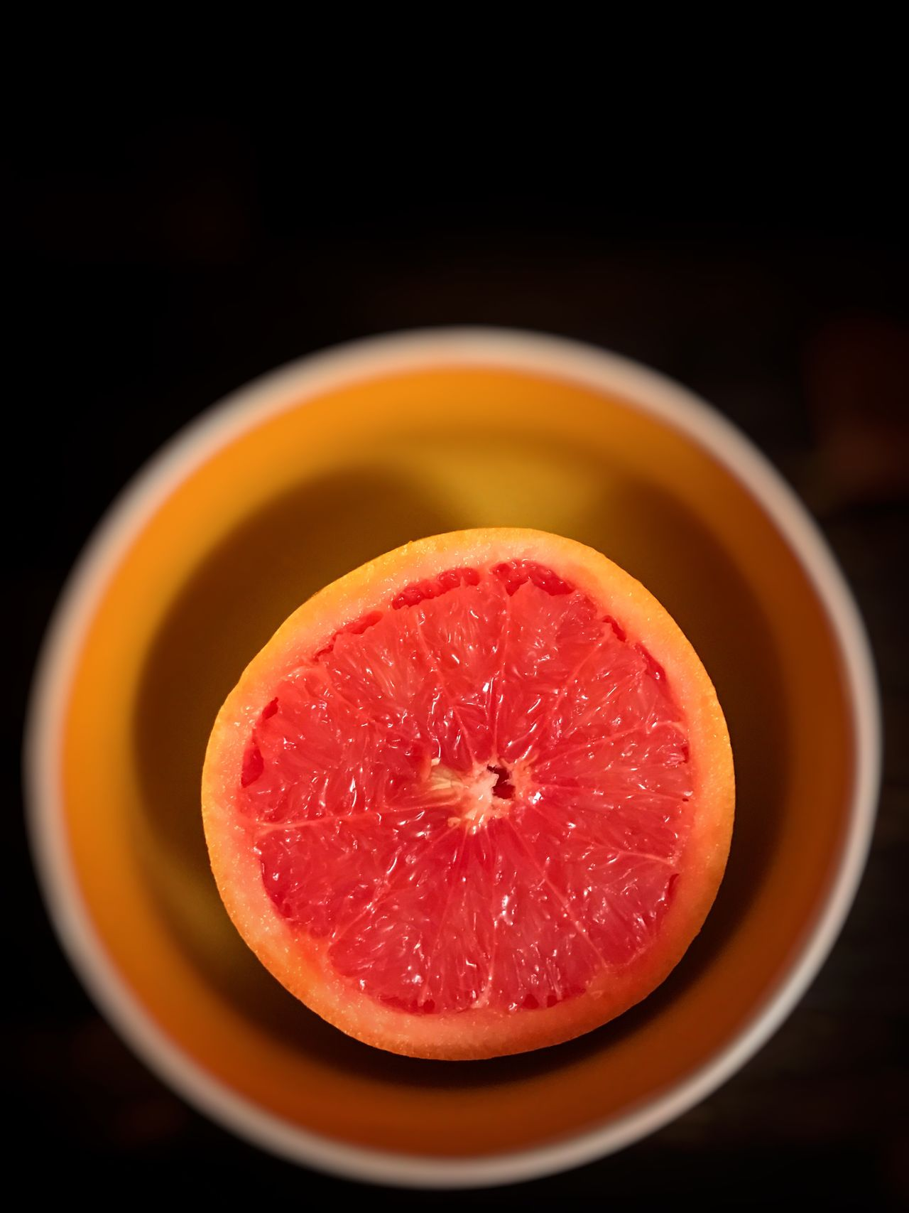 Freshness Black Background Studio Shot Healthy Eating No People Fruit Food SLICE Close-up Plate Ready-to-eat Grapefruit Indoors  Bowl Colours Color