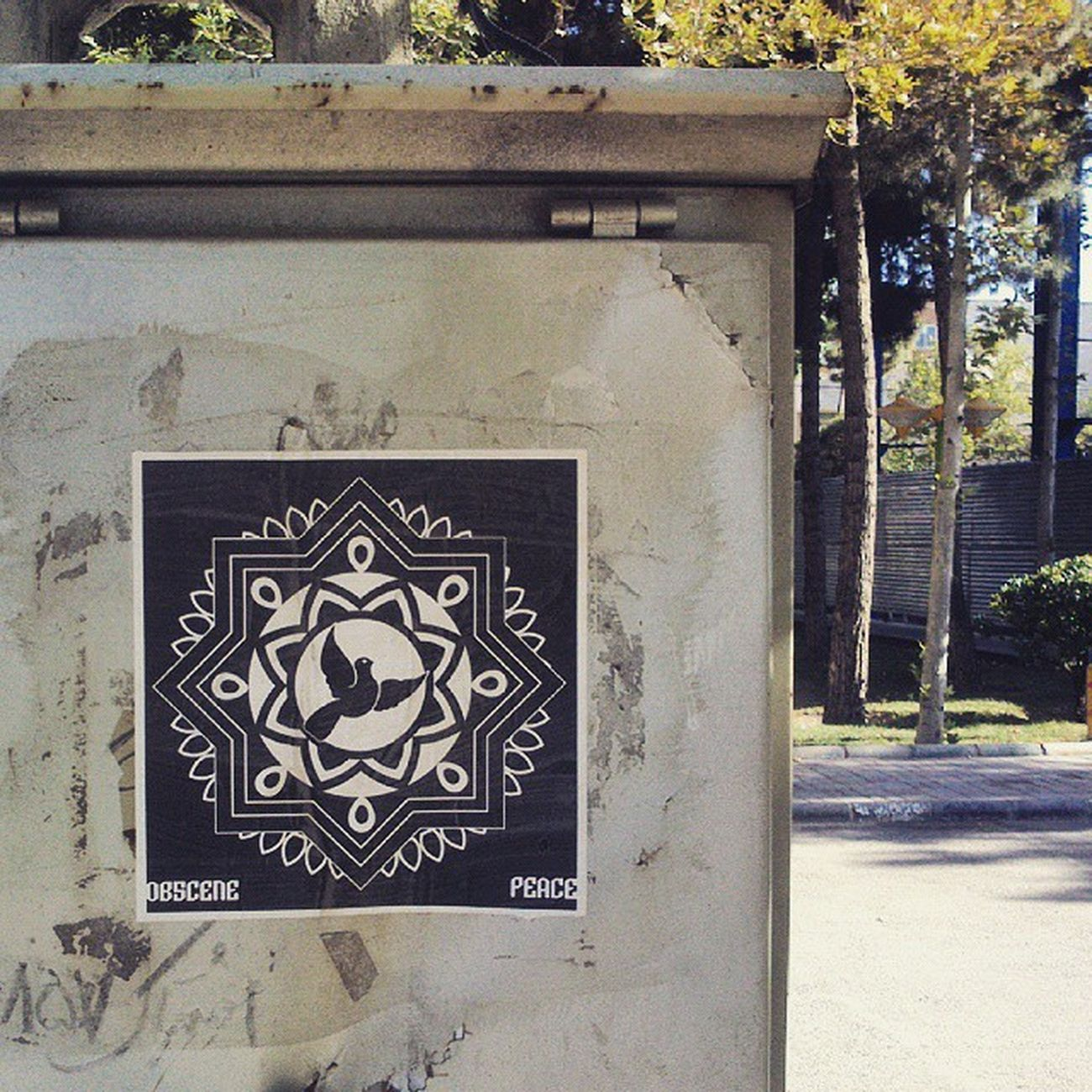 Electricitypost Ob5cene Streetart UrbanART Pasteup Wheatpasteart Art Peace