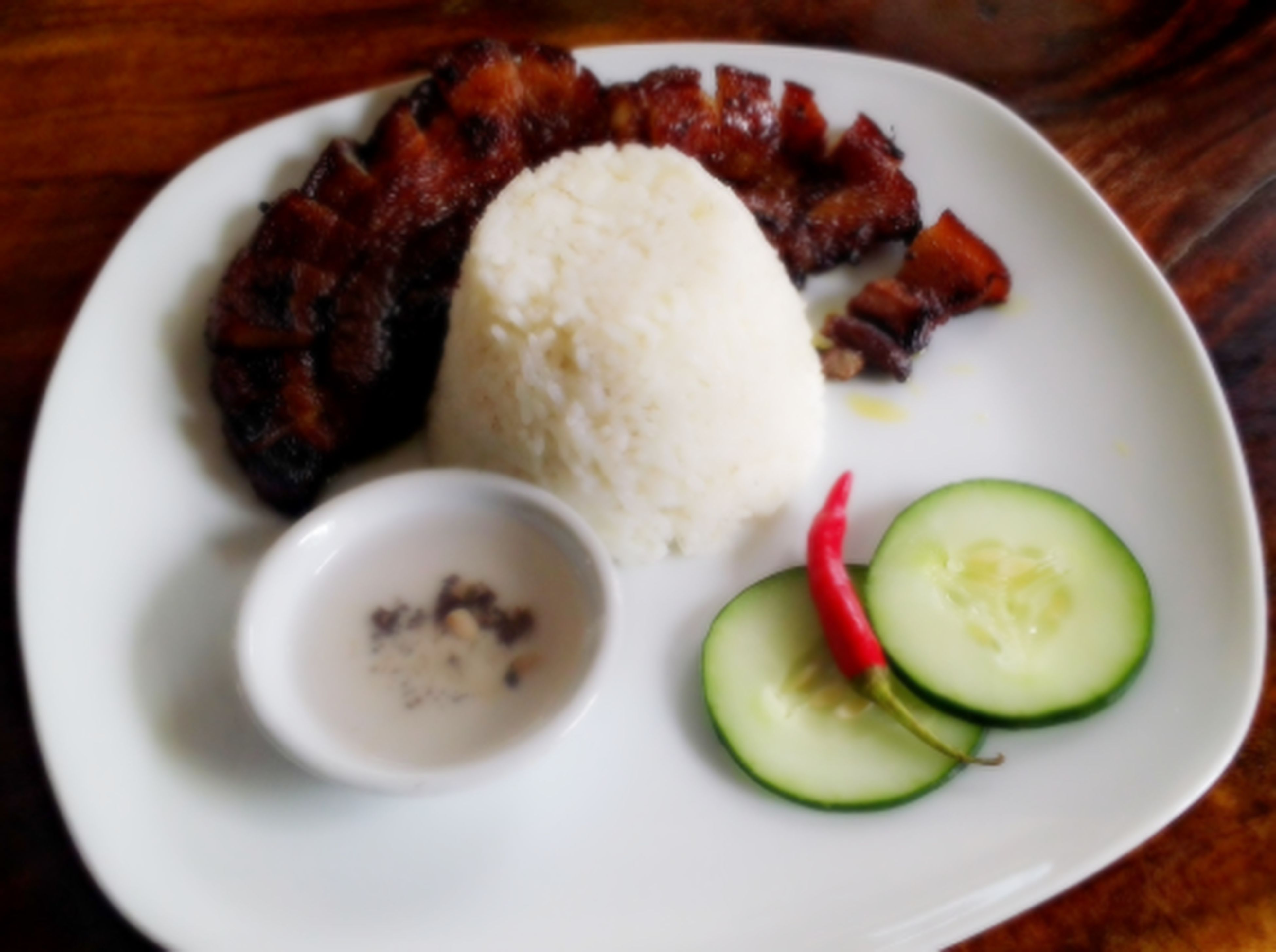 """Good Morning Beautiful People ! Here's for my breakfast :D, """"Inihaw na Liempo"""" or Grilled Pork :)) Treat Yourself Yummy♡ Filipino Breakfast ;P"""