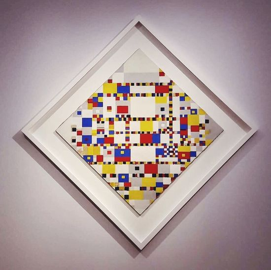 Victory Boogie Woogie. Mondrian Boogie Victory Shape Pixelated The Hague Museum