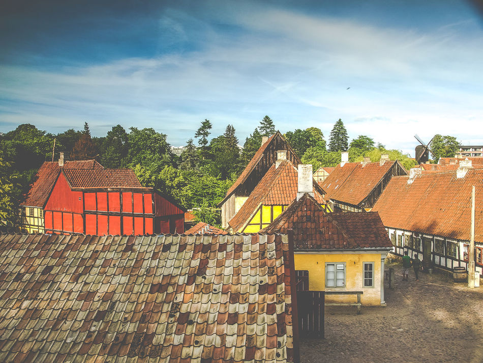 Den Gamle By Architecture Building Exterior Built Structure Cloud - Sky Day Den Gamle By Dengamleby Denmark House No People Outdoors Roof Sky Tiled Roof  Tree