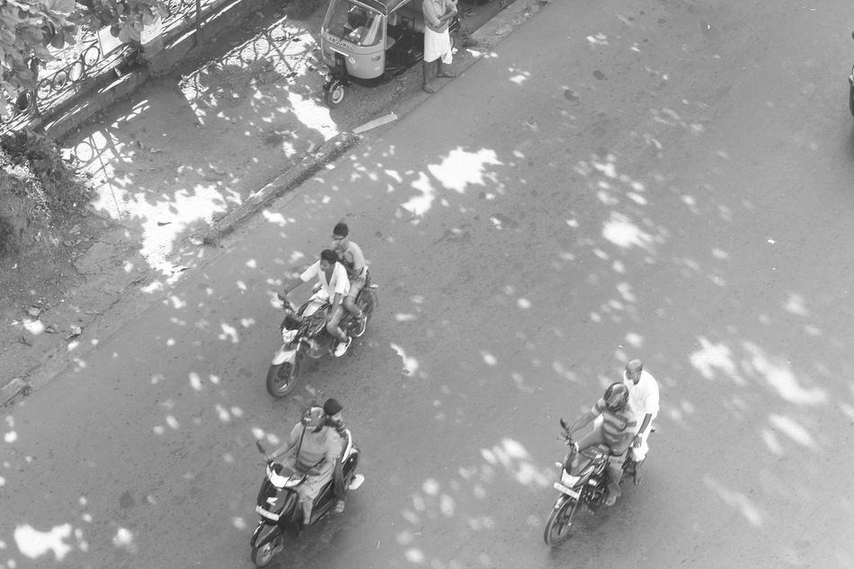 Beauty Of Black And Whit Black Day High Angle View Kerala Kottayam Land Vehicle Men Outdoors Real People Transportation