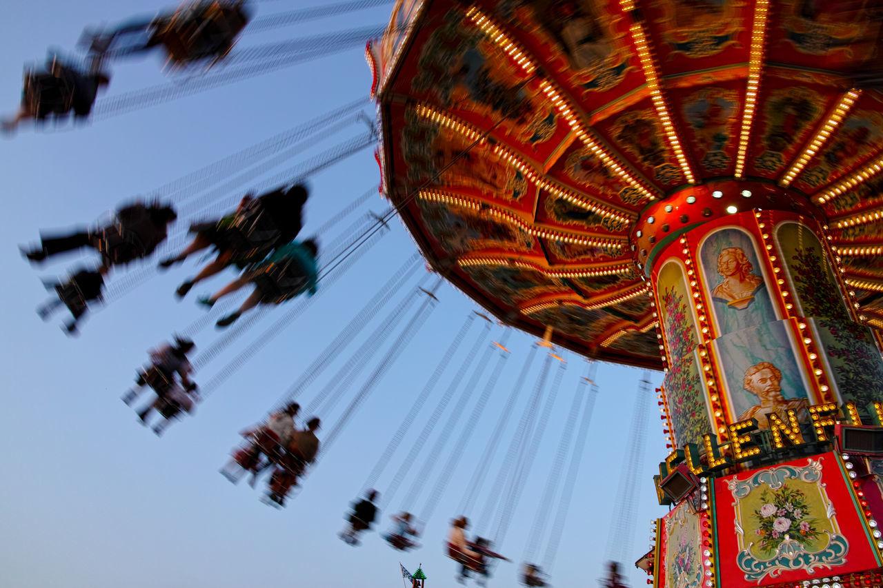 Beautiful stock photos of oktoberfest, amusement park, amusement park ride, arts culture and entertainment, dusk