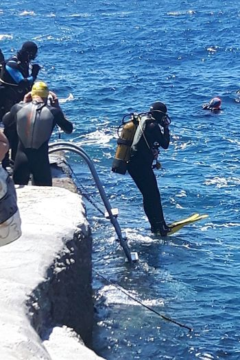 Sea Men Day Outdoors Clear Sky Sport Only Men People Wave Adult Adults Only Sky Diver Sea And Sky Tourist Wied Iz-Zurrieq Samsung Galaxy S5 Blue Grotto Samsungphotography