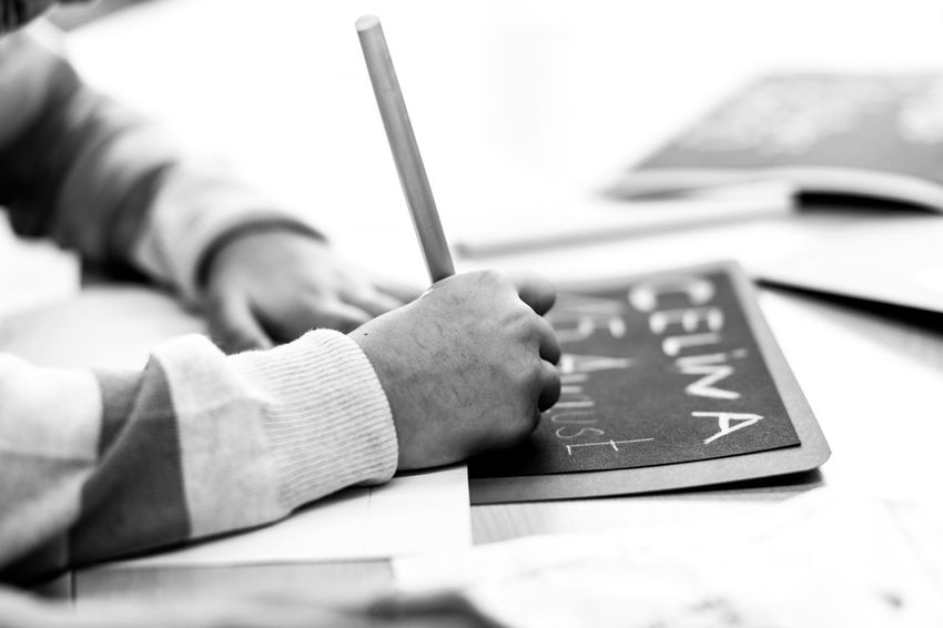 Basteln Mit Kindern Birthdate Celina Chalk Board Child Writing Childhood Memories Close-up Creative Creative Kids Human Body Part Human Hand Kindergarden Kindergarten Kreativ Kunstunterricht Namensschild Namenstafel Namesign One Person Sign Tafel