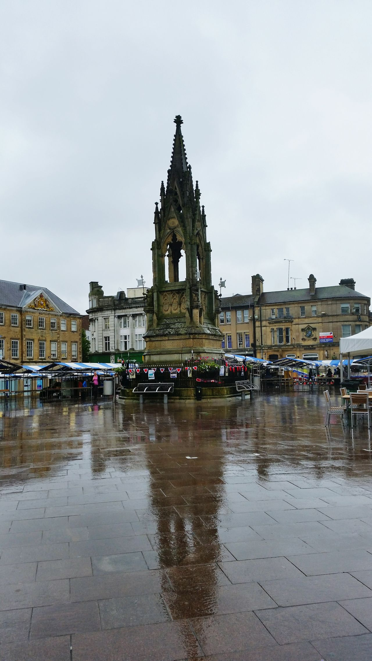 Mansfield, UK Mansfieldtowncentre Nottinghamshire Rainy Summer2016 Monument England English Town