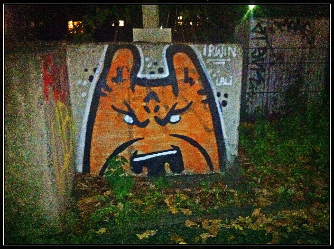 Streetart by Irwin @ Puschkinallee Soistberlin  @ Puschkinallee 51A, 12435 Berlin http://goo.gl/maps/YRPLs