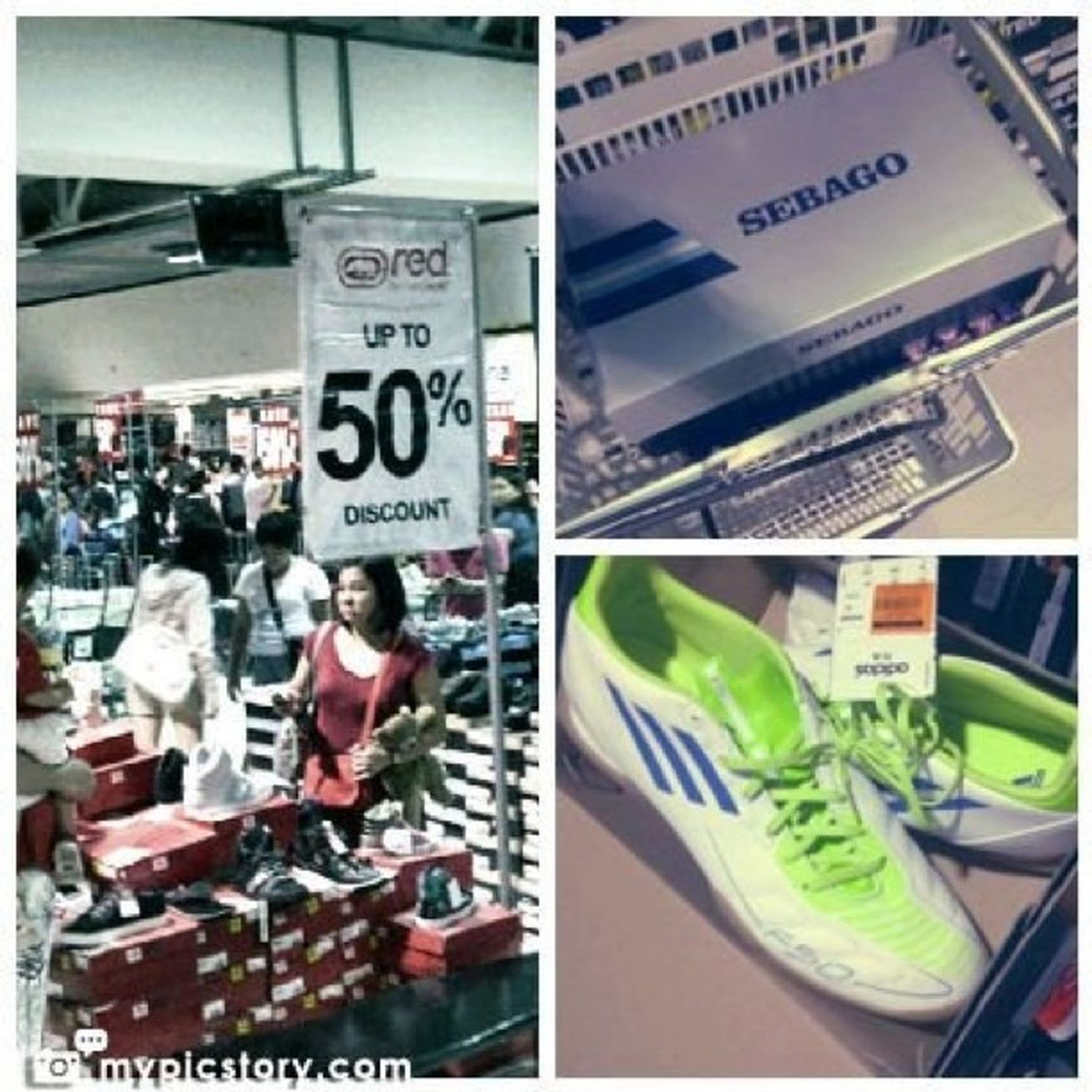 At the SM Megamall MegaSale. I didn't buy the futsal shoes but I did however finally get myself a pair of Sebago shoes :) Instagram Megasale Newshoes Shopping