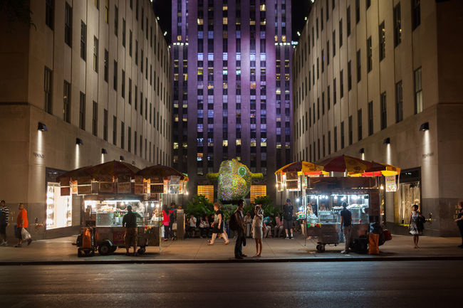 Night scene at the Rockerfeller Center, NYC America Americana New York New York City Night Photography Nightphotography NYC Rockerfeller Rockerfellercenter USA
