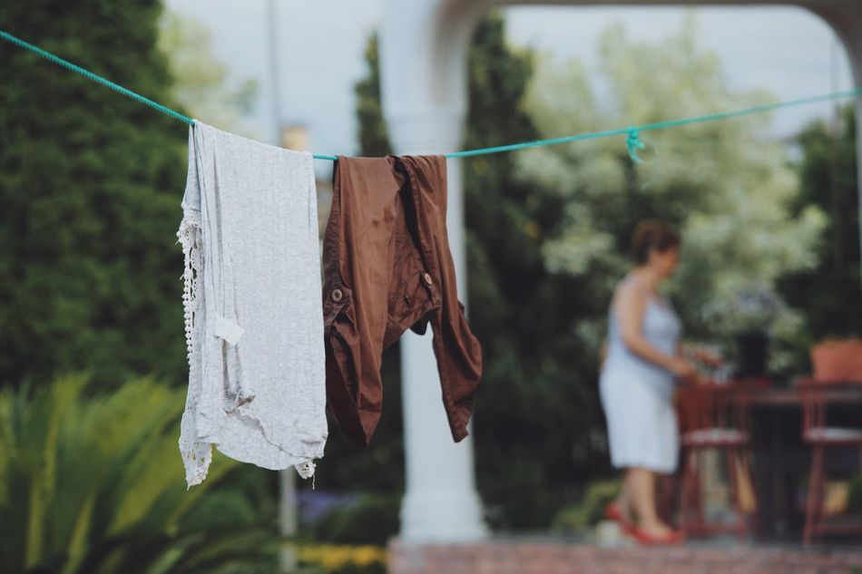 Traveling Home For The Holidays Hanging Clothesline Focus On Foreground Laundry Clothespin Drying Tree Casual Clothing Chores Outdoors Day Open Edit Vscocam Morning Home Caspian Sea Iran Shomal, Iran Chalus Road Shomal Foggy Morning Foggy Beauty In Nature Dreamy Fresh On Market 2017