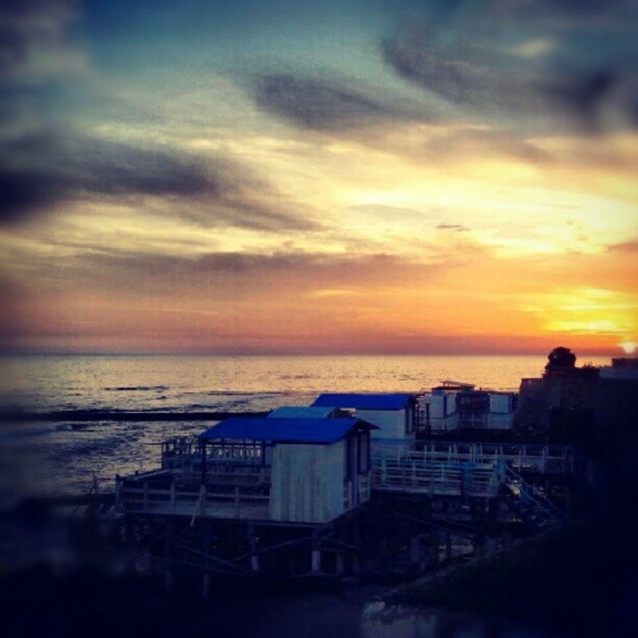 Tramonto Mare Capolinaro SantaMarinella Sunshine Shining Palafitte Sea Sun Loveandsun