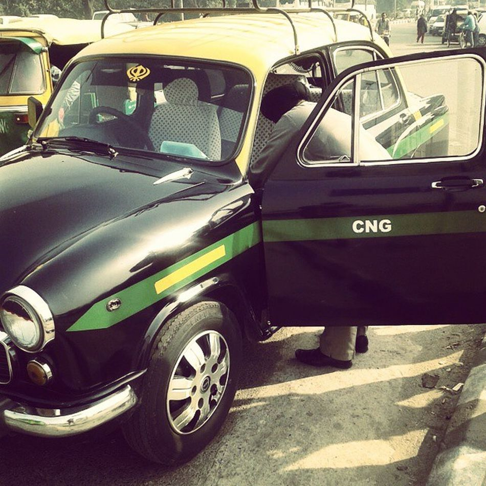 Taxi ride to Old Delhi. Olddelhi ChandiChowk Delhi India