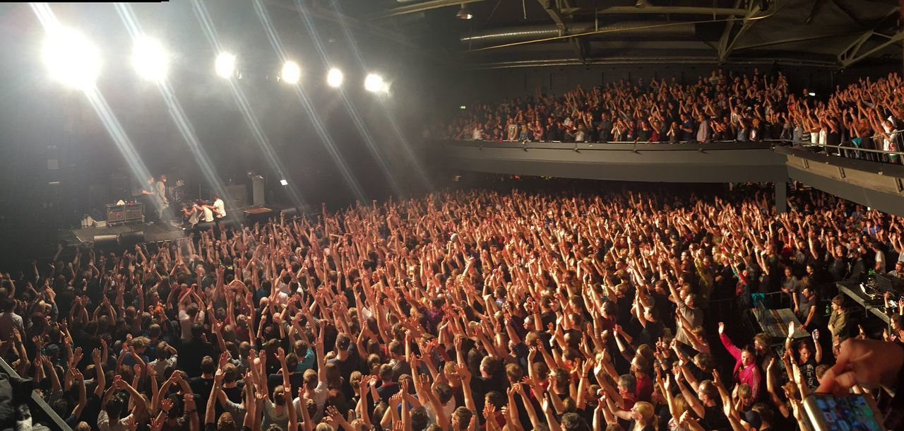 My Fuckin Berlin Concert Panoramic Photography Hands Up LVC Columbiahalle Madsen In Berlin Stimmung Party Goosebumps