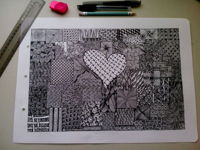 Draw Drawing ✏ Zentangle Zentangleart Tangle Pattern Doddle Creativity Patience Therapeutic Love It! Making Art Taking Photos