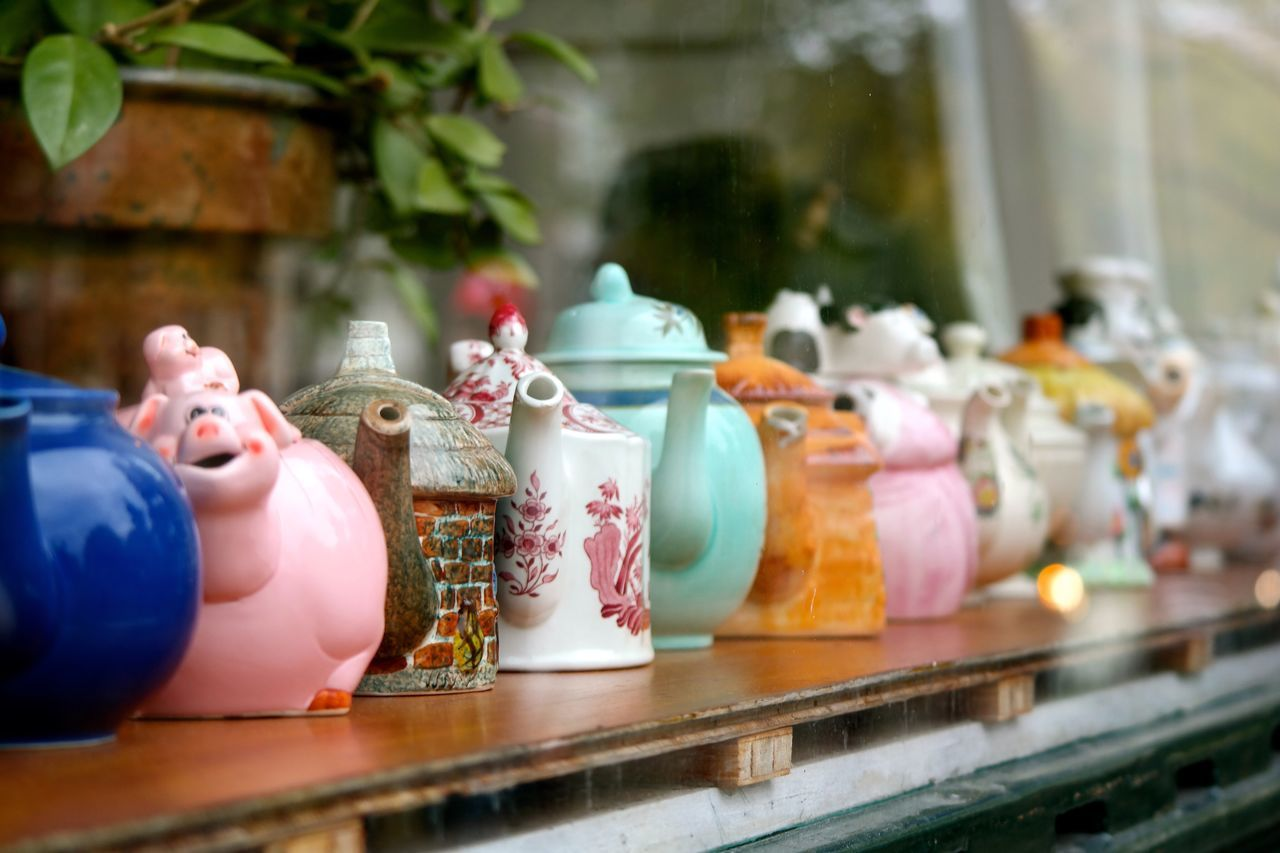 Your Amsterdam Teapot Amsterdam Holland Netherlands Window Shopping Tea Time Eclectic teapots decorate a shop window in Amsterdam Travel Collectables Collection Object EyeEm X Google - Your Amsterdam