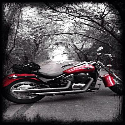 Riding My Motorcycle On The Road Motorbike