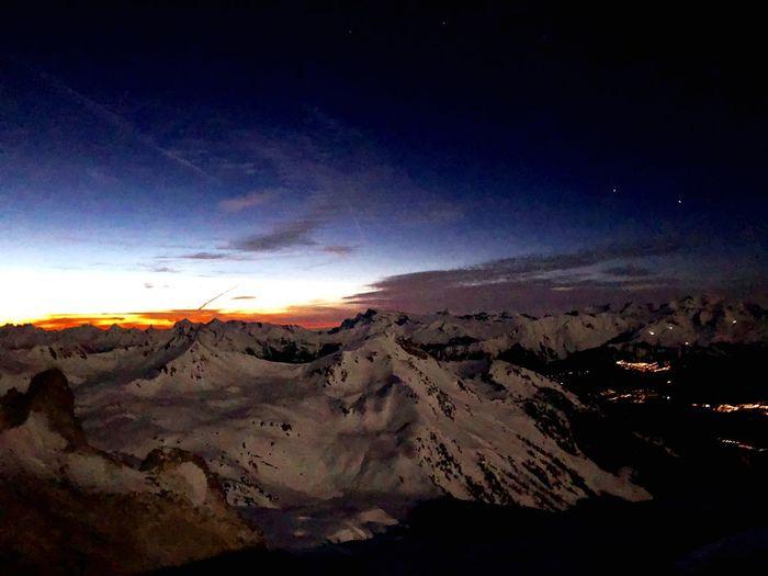 Sunset Swiss Alps Valais Valdanniviers Grimentz Zinal Beauty In Nature Nature Outdoors