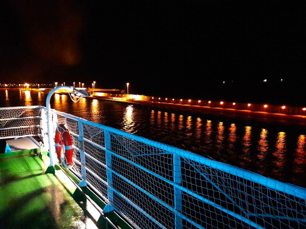 Night Illuminated Architecture City Outdoors Water Sky No People Bridge - Man Made Structure Navegando Nave Mar Travel Photography Travel Nightphotography Scenics Tranquility Boats⛵️ Grimaldi Grimaldilines Boat Low Angle View Sea Tourism Civitavecchia