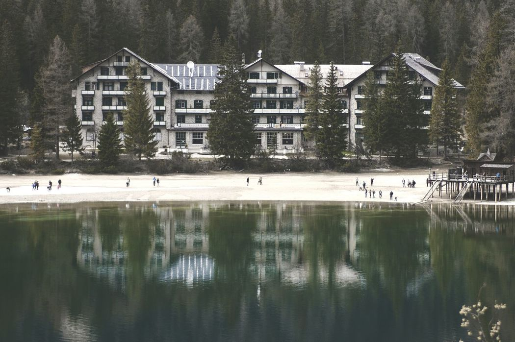 Overlook hotel. Sea Water What I Value The Dolomites Hotel The Alps Shore Edge Of The World People Watching Mountain View Seeing The Sights Landscapes With WhiteWall The Great Outdoors - 2016 EyeEm Awards Learn & Shoot: Balancing Elements