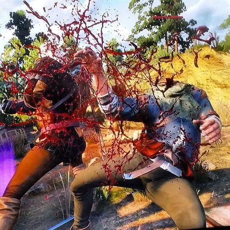 Witcher3 Thewitcher3 Gamestagram Videogame  Beautiful Cloudsporn Cloudscape Wonderful Impressive Sun Amazing Picoftheday Mountains Blood Sword Geralt PS4 Videogames