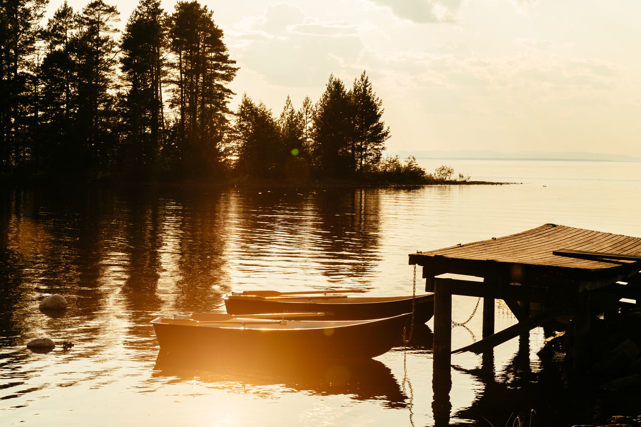 Lake Siljan, Sweden Beauty In Nature Chair Dalarna Day Lake Nature No People Outdoors Reflection Scenics Silence Siljan Sky Summer Sunset Sweden Swedish Swedish Nature Tranquil Scene Tranquility Travel Destinations Tree Tällberg Water