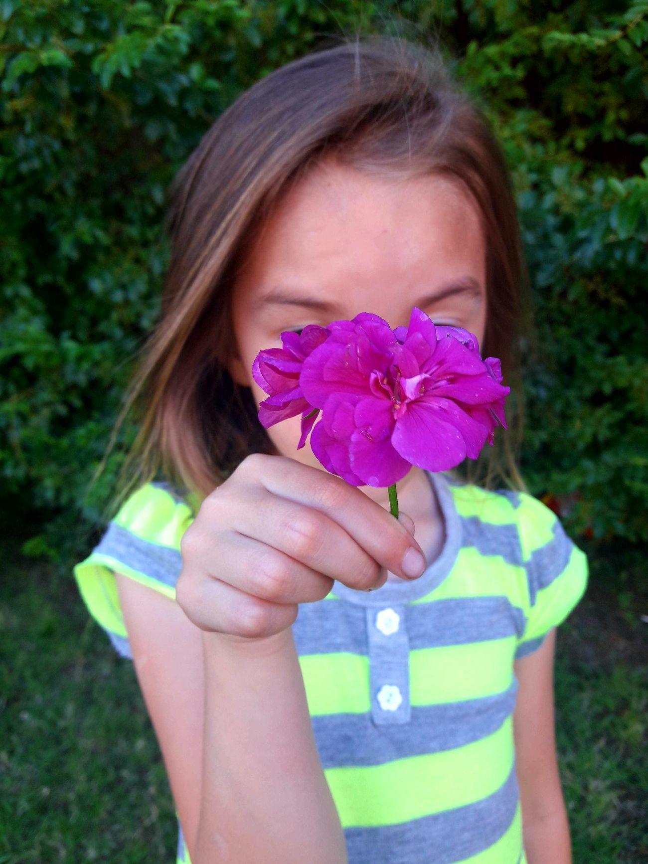 One Person Flower Littlesister Backyard Photography Argentina