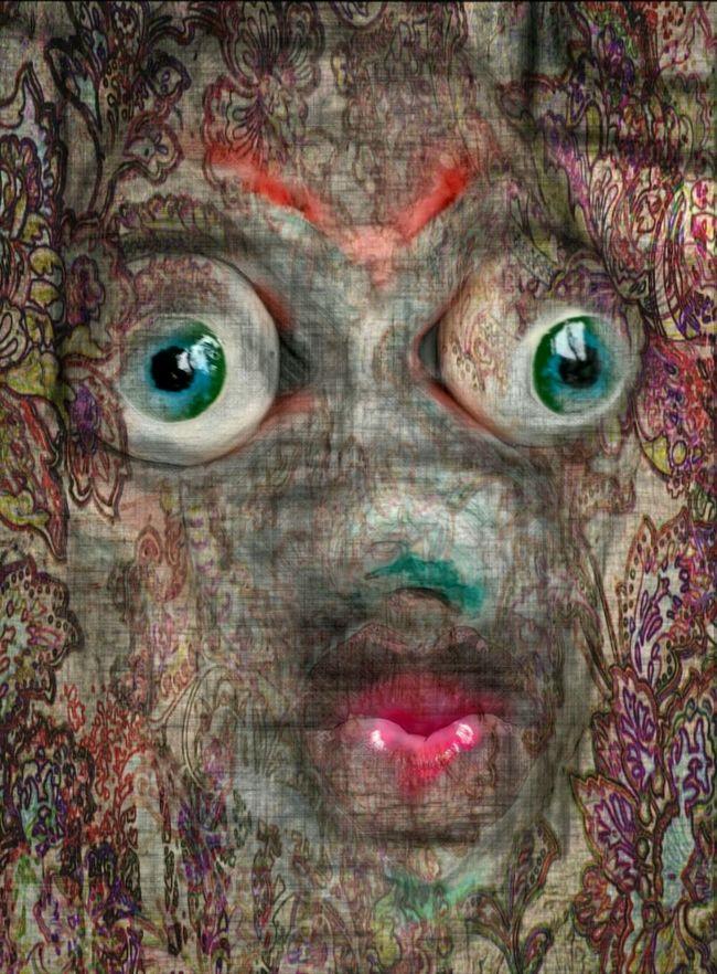 Art Secret Garden Paintings Sculptures Painting Mixed Media Portrait