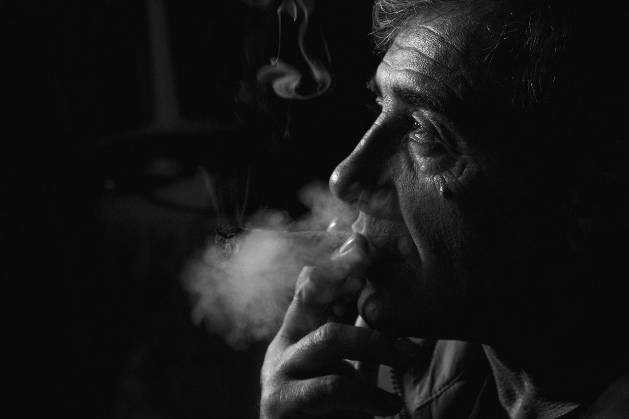 Oldman Melancholic Memories Photography Blackandwhite Bnw_captures Bnwphotography Father Smoker Cuban Cigar Indoors  Close-up Relaxing Time Portrait Of A Man  Portait Photography No Filter EyeEmNewHere