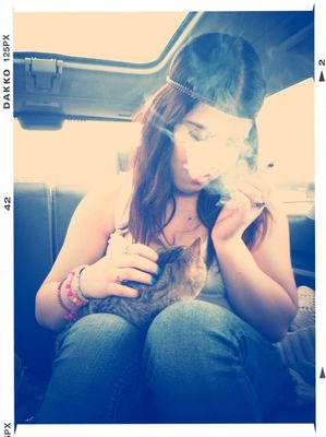 smoking weed by Liat