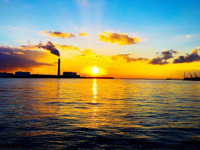 Eyemphotography EyeEm Nature Lover IPhoneography Nopeople Cloud_collection  EyeEm Best Shots - Nature Sunset_collection Sea_collection Sea And Sky Osaka,Japan