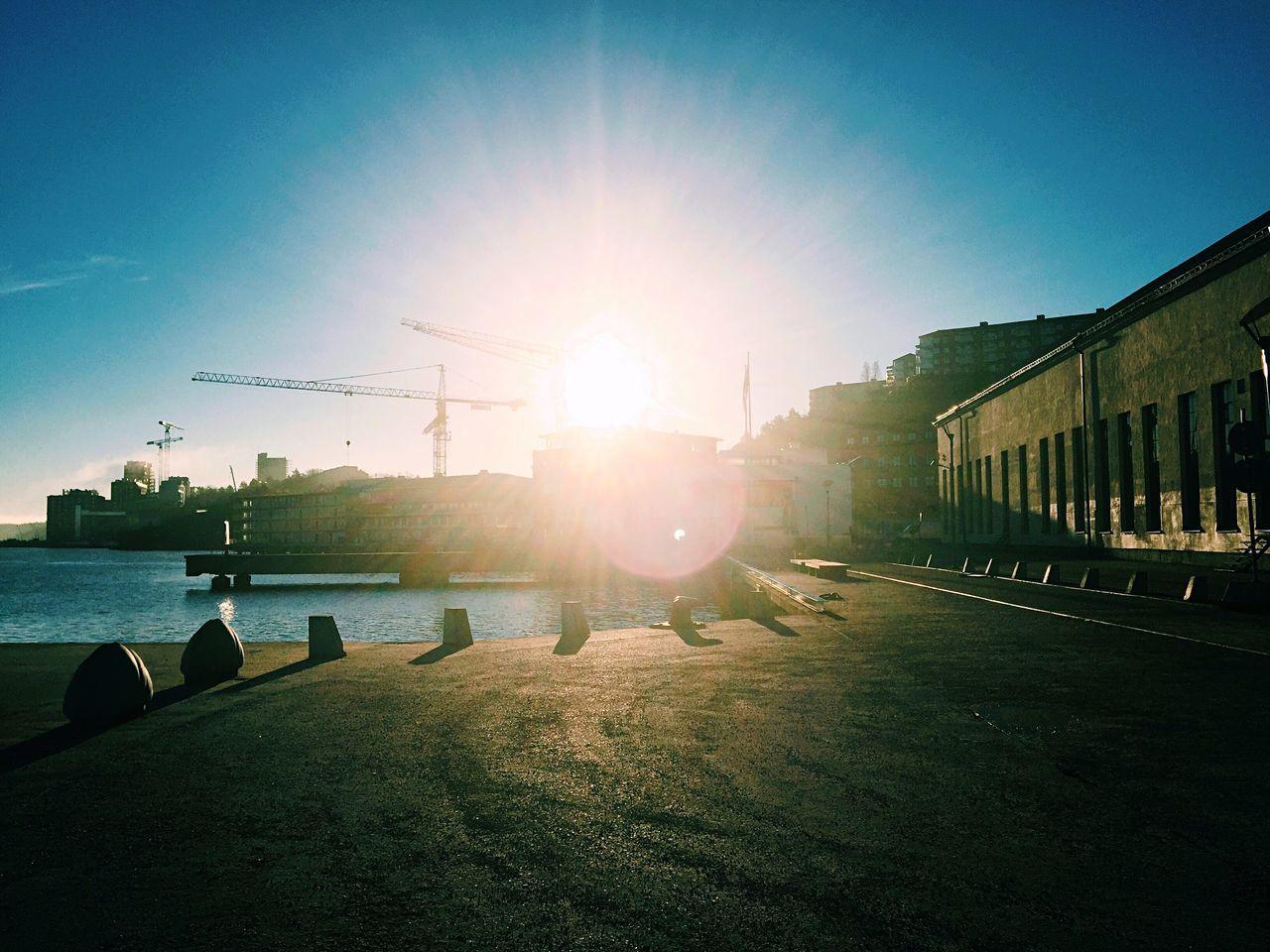 Challenging the sun. Sun Sunrise Sunrise_sunsets_aroundworld Morning Sky Morning Light Morning Bright Lights Sweden EyeEm Nature Lover