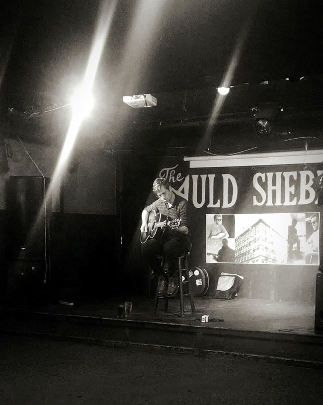 The simplicity of an artist and an empty stage. Bobbylong Singer  Songwriter Odetothinking LiveMusic Acoustic