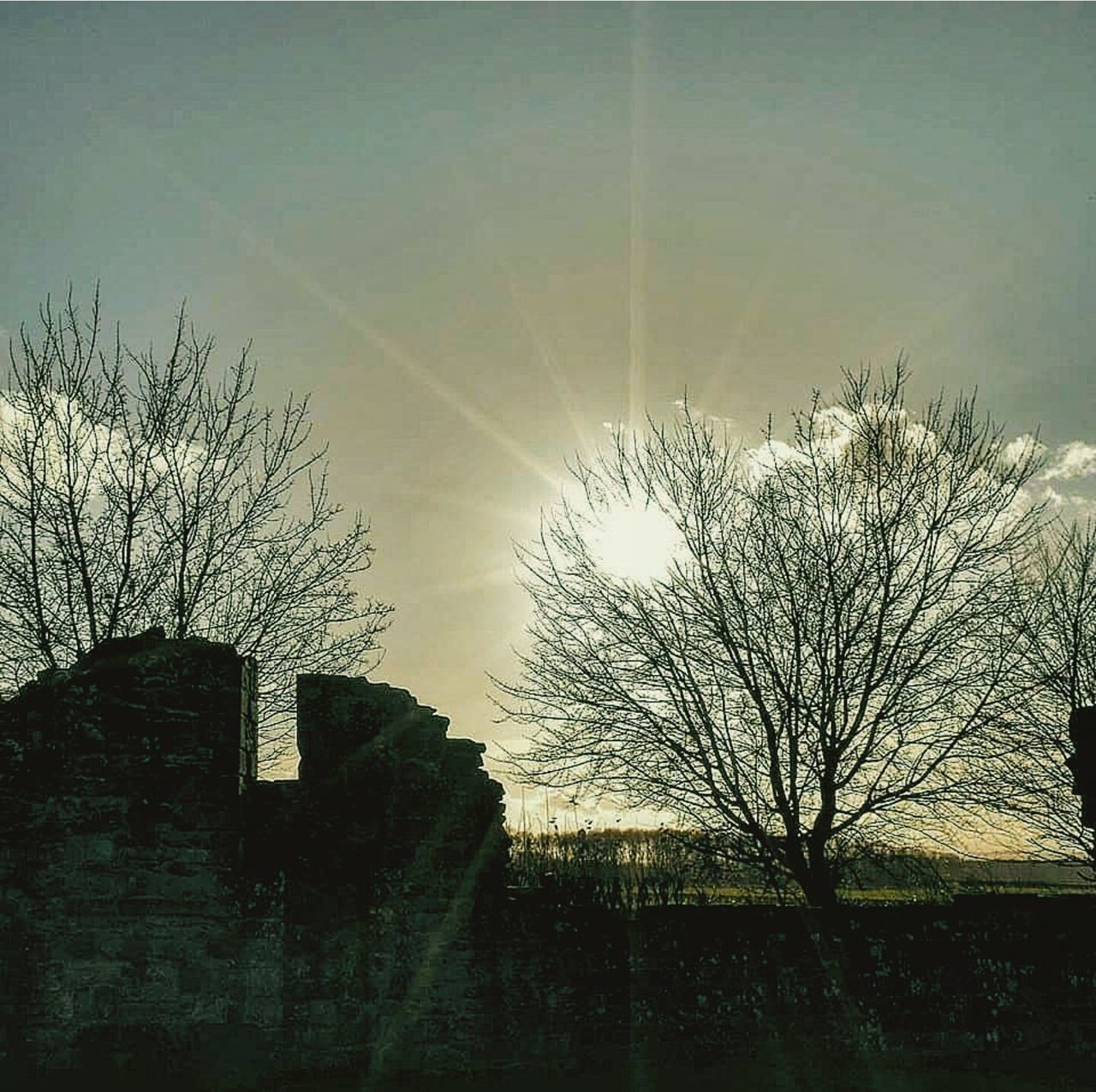 Winter Sunset_collection Sunset Silhouettes Sunshine Sunrays Abandoned Places Ruins Nunnery Whiteladiespriory