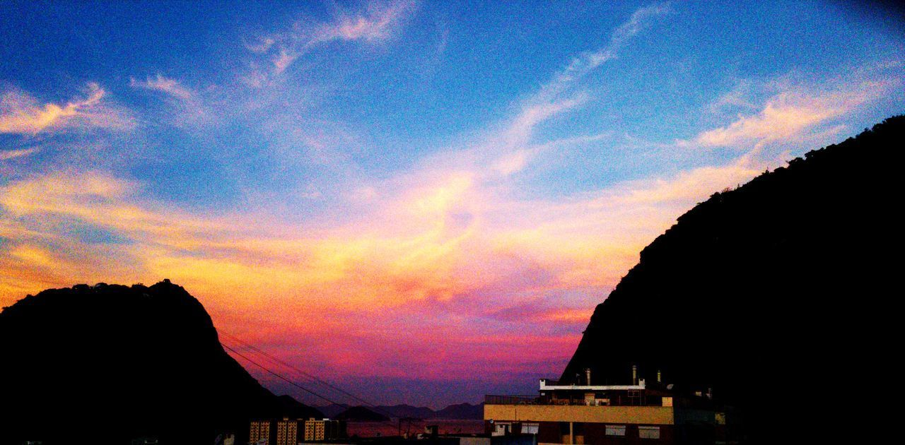Sunset Sky Travel Destinations Cloud - Sky No People City Multi Colored Nature Beauty In Nature EyeEmNewHere Mobilephotography Outdoors Sugar Loaf Rio De Janeiro Pink Blue Orange Cloud Wind