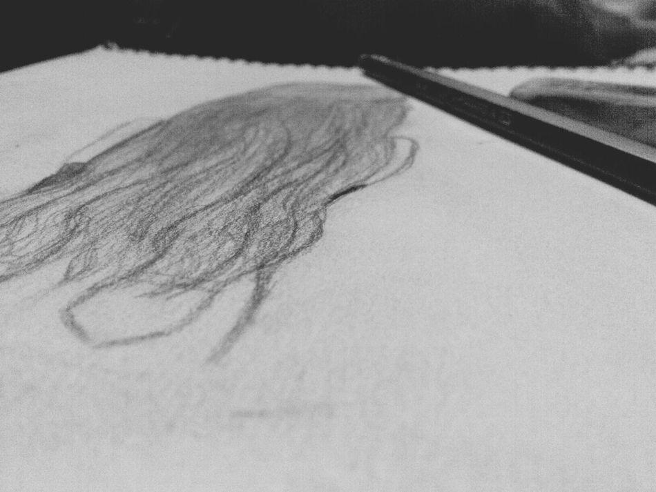 I like <3 Drawing Hairdrawing Blackandwhite Pencil Drawing Art First Eyeem Photo My Draw ♥ Drawing ✏