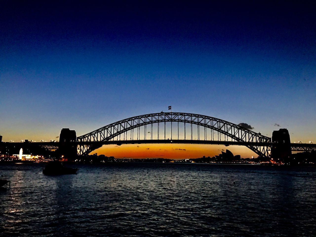 Bridge - Man Made Structure Built Structure Architecture Connection City Water Outdoors Sky No People Morning Sky Silhouette Cloud - Sky Harbour View Harbourside Harbourbridge